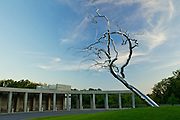 The entrance at Crystal Bridges Museum of American Art on Tuesday, June 11, 2013, in Bentonville, Ark., showcases a sculpture by Roxy Paine titled Yield.