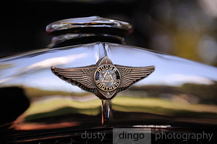 Dodge Brothers car badge. 2011 Classic Car Show, Whiteman Park, Perth, Western Australia. March 20, 2011
