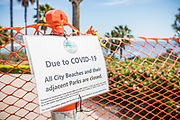 Covid19 Closed City Beaches and Parks Signage and Fencing