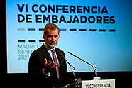011921 King Felipe VI attends the clousure of the Conference of Ambassadors of Spain