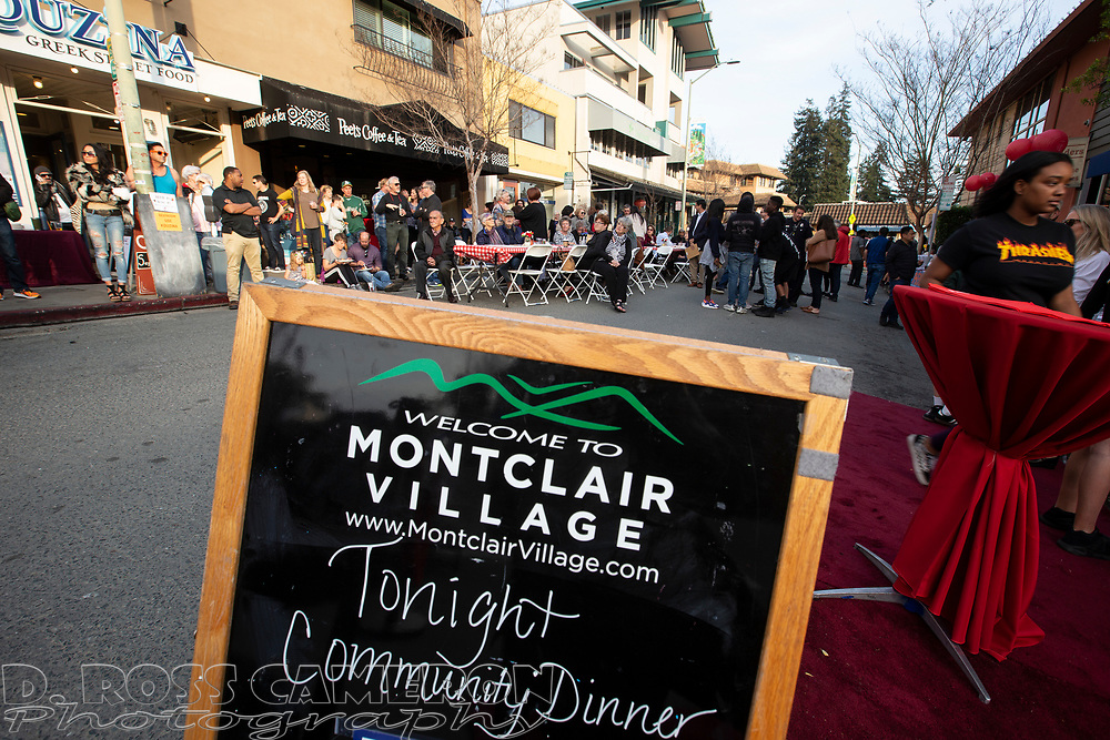 Montclair Village Community Dinner, Sunday, April 7, 2019, in Oakland, Calif. (Photo by D. Ross Cameron)