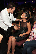 October 13, 2012- Bronx, NY: (L-R) Debra Lee, President & CEO ,BET Networks and Recording Artist Alicia Keys at the Black Girls Rock! Awards presented by BET Networks and sponsored by Chevy held at the Paradise Theater on October 13, 2012 in the Bronx, New York. BLACK GIRLS ROCK! Inc. is 501(c)3 non-profit youth empowerment and mentoring organization founded by DJ Beverly Bond, established to promote the arts for young women of color, as well as to encourage dialogue and analysis of the ways women of color are portrayed in the media. (Terrence Jennings)