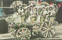 1908 Postcard of entry in the Hollywood Tilting & Floral Parade