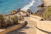 Pedestrian Walk Way to Corona Del Mar State Beach