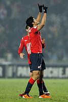 FOOTBALL - FRENCH CHAMPIONSHIP 2010/2011 - L1 - LILLE OSC v RC LENS - 29/01/2011 - PHOTO JEAN MARIE HERVIO / DPPI - JOY TULIO DE MELO (LOSC)
