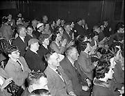 14/05/1958 Cast of play - Gael Linn .14/05/1958 Accordion, player, irish music drama, audience,