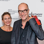NLD/Amsterdam/20180908 - inloop Gala Het Nationale Ballet 2018, Bart Chabot en partner Jolanda van den Burg