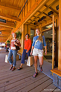 Shopping at the village at  Whitefish Mountain Resort in Montana model released