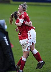 Gemma Evans of Bristol City Women and Jasmine Matthews of Bristol City Women after the final whistle of the match  - Mandatory by-line: Ryan Hiscott/JMP - 30/01/2021 - FOOTBALL - Twerton Park - Bath, England - Bristol City Women v Brighton and Hove Albion Women - FA Womens Super League 1