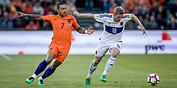 09.06.2017, De Kuip Stadium, Rotterdam, NED, FIFA WM 2018 Qualifikation, Niederlande vs Luxemburg, Gruppe A, im Bild Memphis Depay of Netherlands and Laurent Jans of Luxemburg // Memphis Depay of Netherlands and Laurent Jans of Luxemburg during the FIFA World Cup 2018, group A qualifying match between Netherlands and Luxemburg at the De Kuip Stadium in Rotterdam, Netherlands on 2017/06/09. EXPA Pictures © 2017, PhotoCredit: EXPA/ Focus Images/ Joep Joseph Leenen<br /> <br /> *****ATTENTION - for AUT, GER, FRA, ITA, SUI, POL, CRO, SLO only*****