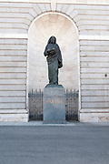 Statue of Paul the Apostle (Paulus) at the Almudena Cathedral (Santa María la Real de La Almudena) is a Catholic cathedral in Madrid, Spain. It is the seat of the Roman Catholic Archdiocese of Madrid. The cathedral was consecrated by Pope John Paul II in 1993.