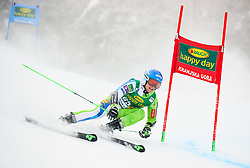 Zan Groselj of Slovenia competes during 1st run of Men's GiantSlalom race of FIS Alpine Ski World Cup 57th Vitranc Cup 2018, on March 3, 2018 in Kranjska Gora, Slovenia. Photo by Ziga Zupan / Sportida