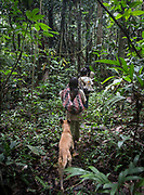 Going foraging with Roxana Nate and her siblings, in the jungle.