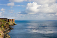 Doleriite cliffs of the Trotternish Peninsula, Isle of Skye Scotland