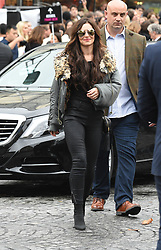 Cheryl Cole is seen walking the L'Oreal fashion show in Paris, Cheryl looked extremely nervous at rehearsals <br /><br />1 October 2017.<br /><br />Please byline: Vantagenews.com