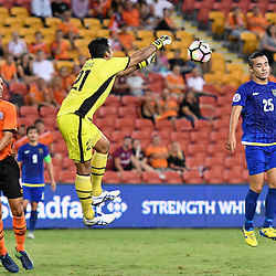 BRISBANE, AUSTRALIA - JANUARY 31: Jamie Young of the Roar in action during the second qualifying round of the Asian Champions League match between the Brisbane Roar and Global FC at Suncorp Stadium on January 31, 2017 in Brisbane, Australia. (Photo by Patrick Kearney/Brisbane Roar)