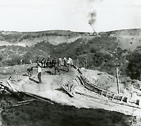 1924 Road construction at Hollywoodland in the Hollywood hills.