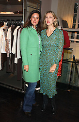 Left to right, Jeweller CELIA FORNER VENTURI and ALLEGRA HICKS at a lunch at Allegra Hicks, 28 Cadogan Place, London to view their new collection of handbags by F.O.U. on 20th October 2005.<br /><br />NON EXCLUSIVE - WORLD RIGHTS