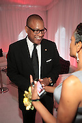 """September 18, 2012- Harlem, New York: Greg Cunningham, Senior Group Manager, Strategic Partnerships & Lifestyles Marketing, Targetattends Sylvia's Restaurant 50th Anniversary Golden Jubliee Gala celebrating the life and legacy of the late Sylvia Woods and held at Sylvia's Restaurant on September 18, 2012 in the Village of Harlem, USA. The 50th Anniversary Gala salutes Sylvia's as """"the world's kitchen"""" and celebrates a legend of the historic Harlem community. With an invite-only fundraising event for 500+ guests, the night kicked-off with a lavish cocktail hour and live performances from Sylvia's A-list guests, many of whom have made Sylvia's a home away from home for the past 5 decades. (Terrence Jennings)"""
