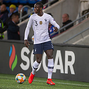 ANDORRA LA VELLA, ANDORRA. June 1.  Ferland Mendy #3 of France in action during the Andorra V France 2020 European Championship Qualifying, Group H match at the Estadi Nacional d'Andorra on June 11th 2019 in Andorra (Photo by Tim Clayton/Corbis via Getty Images)