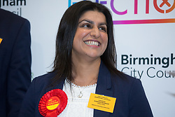 © Licensed to London News Pictures. 09/06/2017. Birmingham, UK. SHABANA MAHMOOD, retaining her seat in Ladywood for Labour in Birmingham. Photo credit: Dave Warren/LNP