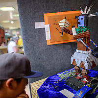 080614       Cable Hoover<br /> <br /> Tulane John's lego sculpture of Talking God was a crowd favorite and prize winner in the youth category during the Gallup Inter-tribal Indian Ceremonial art show at Red Rock Park Wednesday.