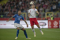 October 14, 2018 - Chorzow, Poland - Kamil Grosicki of Poland with the ball during the UEFA Nations League A match between Poland and Italy at Silesian Stadium in Chorzow, Poland on October 14, 2018  (Credit Image: © Andrew Surma/NurPhoto via ZUMA Press)