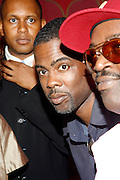 Congressional Candidate Kevin Powell, Chris Rock and Fab 5 Freddy at An evening with Dave Chappelle for Kevin Powell for Congress held at Eugene's on July 9, 2008..Kevin Powell runs as a Democratic Candidate for Congress in Brooklyn's 10th Congressional District