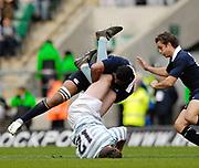 Twickenham. GREAT BRITAIN,  James Jones, takes the legs of Steffan Thomas, during the 2006 Varsity Rugby Match at Twickenham Stadium, England 12.12.2006. [Photo, Peter Spurrier/Intersport-images] Sponsor, Lehman Brothers,
