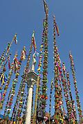 Lipnica Murowana, 2006-04-09.Konkurs palm wielkanocnych przy kolumnie św. Szymona z Lipnicy w Niedzielę Palmową w Lipnicy Murowanej