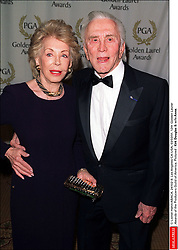 Kirk Douglas Dies At 103 - © Lionel Hahn/ABACA. 24102-9. Los Angeles-CA-USA, 03/03/01. 12th Golden Laurel Awards of the Producers Guild of America. Pictured : Kirk Douglas & wife Anne.