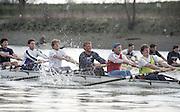 London. England, Old Blue 2. Ben HUNT DAVIS, 3. Kingsley POOLE. 4, Cal MACLENNAN, 5. Jonny SEARLE, 6 Matt PINSENT, 7. Pete BRIDGE stroke Rupert OBHOLZER.Oxford University BC, Pre Boat Race Fixture, Oxford University vs Old Blue's eight. River Thames, Putney.<br /> <br /> [Mandatory Credit;Peter SPURRIER/Intersport Images]