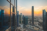 Panorama sunrise from Shangri-la hotel