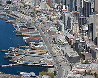 Demolition crews along the Seattle Waterfront completing final work after removal of the Alaskan Way Viaduct.