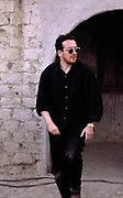 Elvis Costello on the set of Straight to Hell - Almaria Spain 1986