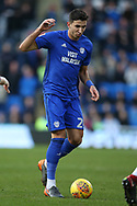 Marko Grujic of Cardiff city in action. EFL Skybet championship match, Cardiff city v Middlesbrough at the Cardiff city Stadium in Cardiff, South Wales on Saturday 17th February 2018.<br /> pic by Andrew Orchard, Andrew Orchard sports photography.
