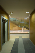 lifts, stairs, corridor at new hospital