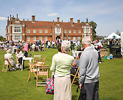 People enjoying a garden and plant day at Helmingham Hall, Suffolk, England