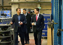 © Licensed to London News Pictures. 14/03/2013. London, UK. Bryan Raven, Nick Clegg. Deputy Prime Minister Nick Clegg visits White Light, a company in South West London, to talk to apprentices and launch the Government's response to the Richard Review today 14th March 2013. Photo credit : Stephen Simpson/LNP