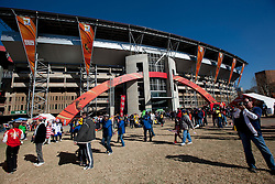 Fans coming to stadium ahead of the 2010 FIFA World Cup South Africa Group C match between Slovenia and USA at Ellis Park Stadium on June 18, 2010 in Johannesberg, South Africa. (Photo by Vid Ponikvar / Sportida)