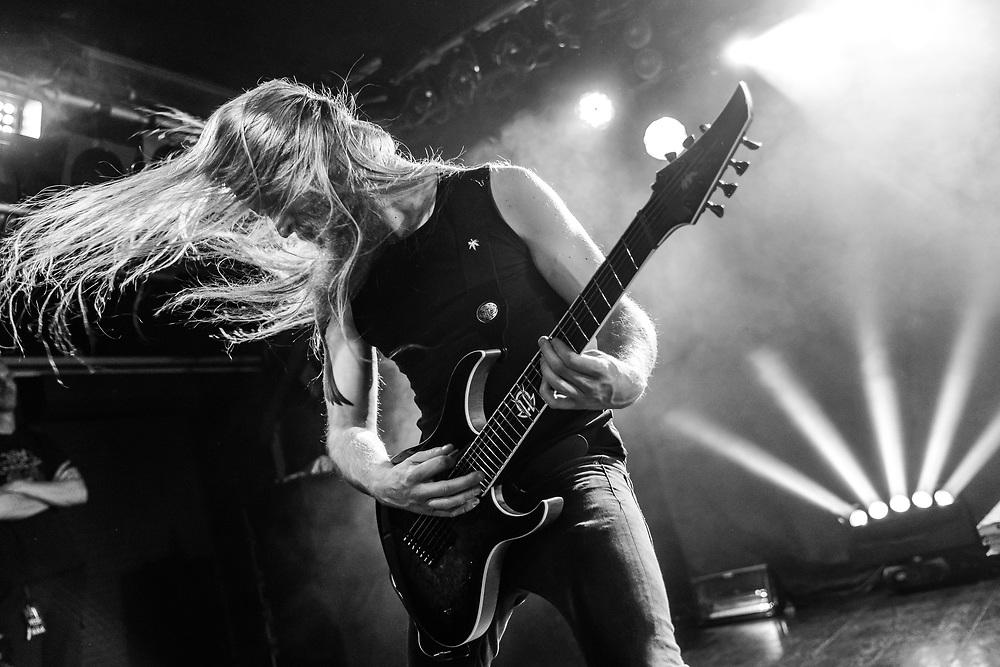 Jord Otto of Dutch progressive metal band Vuur at Colos-Saal in Aschaffenburg