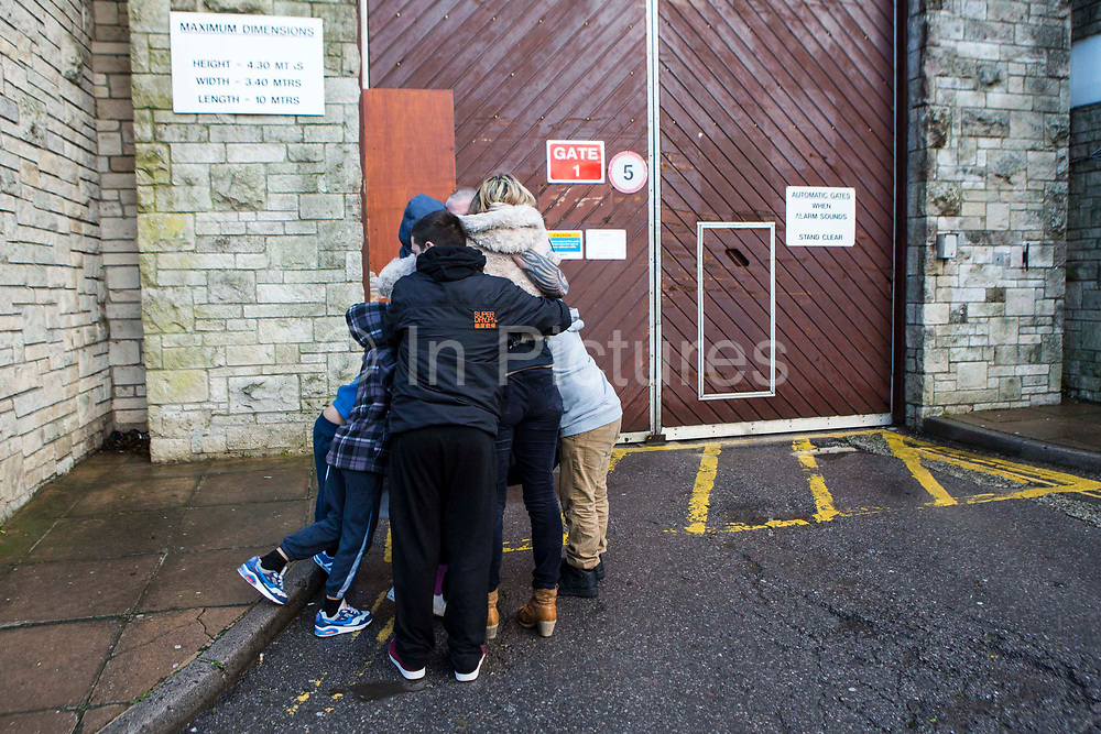 The moment a family is reunited with their dad after 2 and a half years of him inside HMP/YOI Portland, Dorset, United Kingdom.