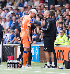 Rangers Nikola Katic with a head bandage during the Betfed Cup Second Round match at Rugby Park, Kilmarnock.