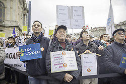 Italy, Turin -  November 10, 2018.Italy-France high-speed train project.Thousands protest in favour of high-speed rail TAV Lyon Turin project. (Credit Image: © Sicki/Fotogramma/Ropi via ZUMA Press)