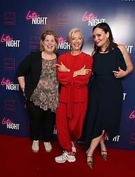 (left to right) Katy Brand, Dame Emma Thompson and Deborah Francis-White attending the LATE NIGHT Gala Screening at Picture House Central, London. Picture dated: Monday May 20, 2019. Photo credit should read: Isabel Infantes / EMPICS Entertainment.