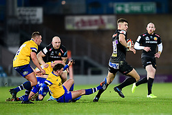 Ollie Devoto of Exeter Braves makes a break  - Mandatory by-line: Ryan Hiscott/JMP - 16/12/2019 - RUGBY - Sandy Park - Exeter, England - Exeter Braves v Bath United - Premiership Rugby Shield