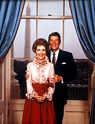 Ronald Reagan - Pesident of the United States and his wife Nancy. Date:01.06.1984. EXPA Pictures © 2016, PhotoCredit: EXPA/ Photoshot/ Photoshot<br /> <br /> *****ATTENTION - for AUT, SLO, CRO, SRB, BIH, MAZ, SUI only*****