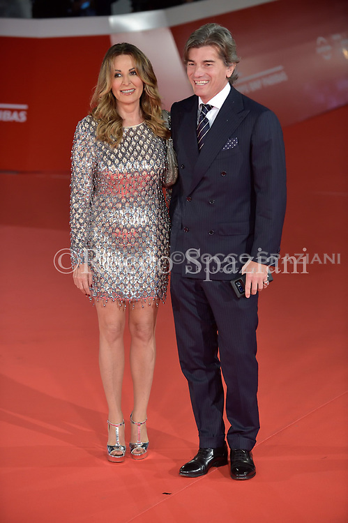 Daniela Santanche and Dimitri Kunz Red Carpet at 12th Rome Film Fest - Christoph Waltz walks a red carpet during the 12th Rome Film Fest at Auditorium Parco Della Musica on October 26, 2017 in Rome, Italy