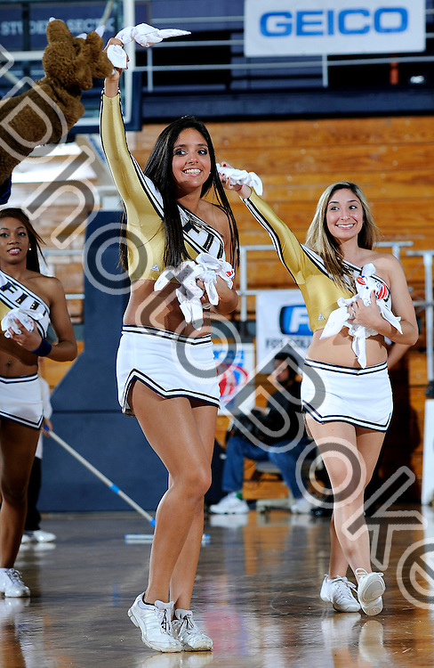 2010 February 27 - Florida International University cheerleaders performing for the fans, Miami, Florida. (Photo by: www.photobokeh.com / Alex J. Hernandez) This image is copyright PhotoBokeh.com and may not be reproduced or retransmitted without express written consent of PhotoBokeh.com. ©2012 PhotoBokeh.com - All Rights Reserved