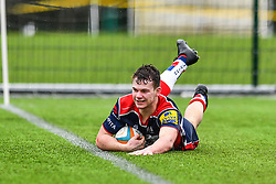 Will Hines of Bristol Academy U18 scores his sides second try - Mandatory by-line: Craig Thomas/JMP - 03/02/2018 - RUGBY - SGS Wise Campus - Bristol, England - Bristol U18 v Harlequins U18 - Premiership U18 League